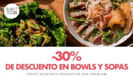Sábado 30% en Bowls